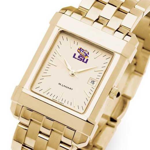 615789751151: LSU Men's Gold Quad W/ Bracelet