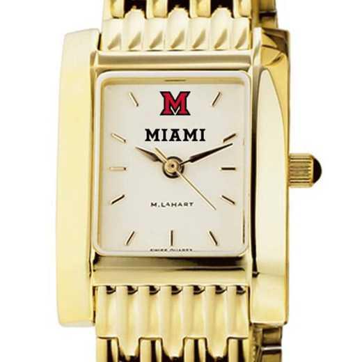 615789609537: Miami University Women's Gold Quad W/ Bracelet