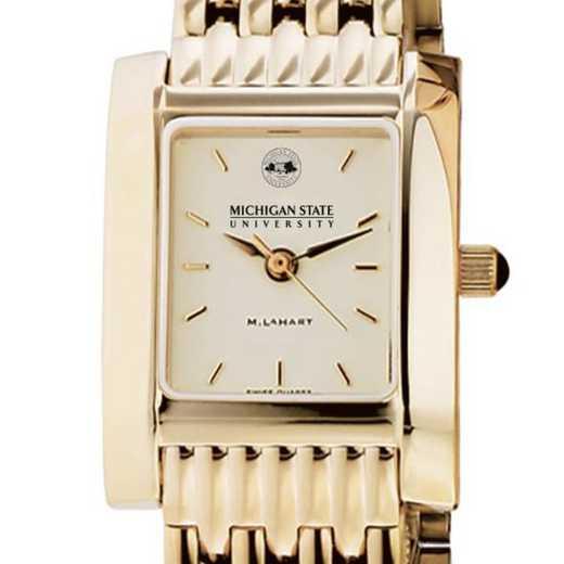 615789812845: Michigan ST Women's Gold Quad W/ Bracelet