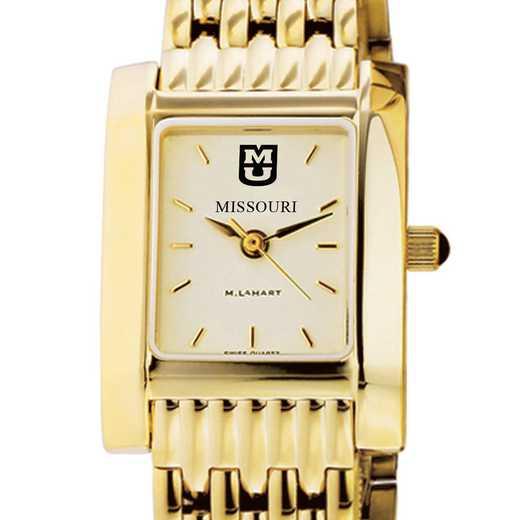 615789395348: University of Missouri Women's Gold Quad W/ Bracelet