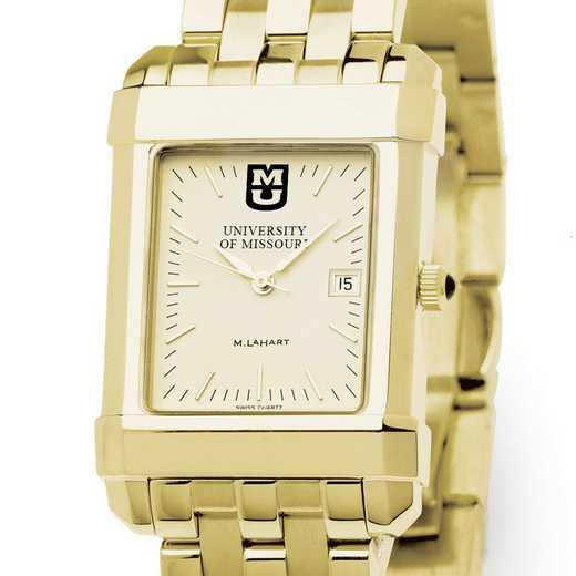 615789530459: University of Missouri Men's Gold Quad W/ Bracelet