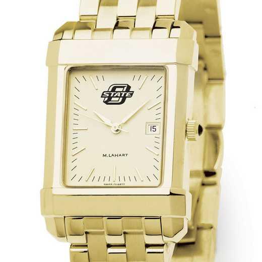 615789339045: Oklahoma ST University Men's Gold Quad W/ Bracelet