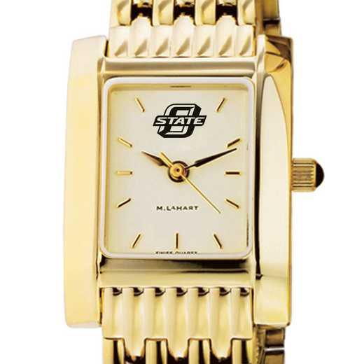 615789458302: Oklahoma ST University Women's Gold Quad W/ Bracelet