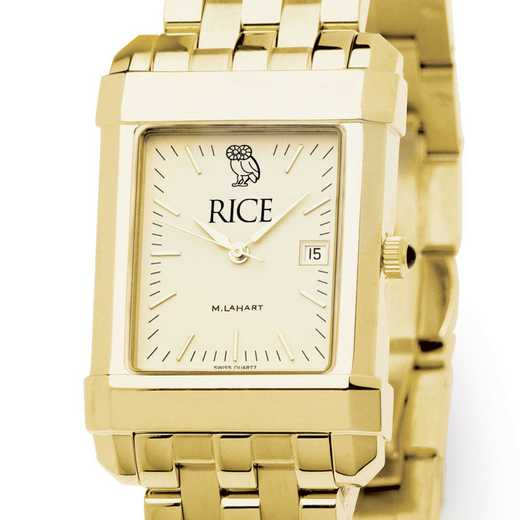 615789015550: Rice University Men's Gold Quad W/ Bracelet