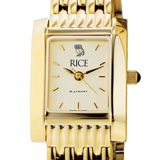 615789389033: Rice University Women's Gold Quad W/ Bracelet