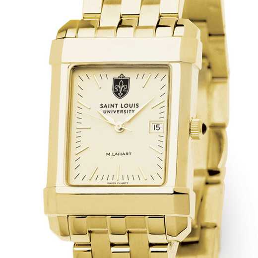 615789335009: Saint Louis University Men's Gold Quad W/ Bracelet