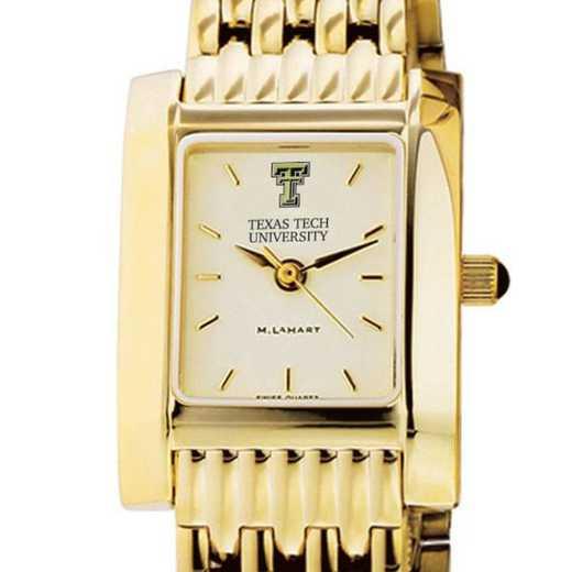 615789478423: Texas Tech Women's Gold Quad W/ Bracelet