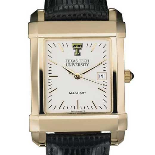 615789736653: Texas Tech Men's Gold Quad W/ Bracelet