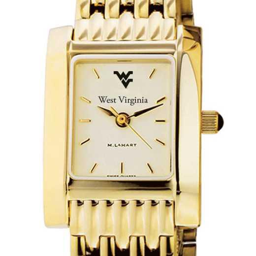 615789773122: West Virginia University Women's Gold Quad W/ Bracelet