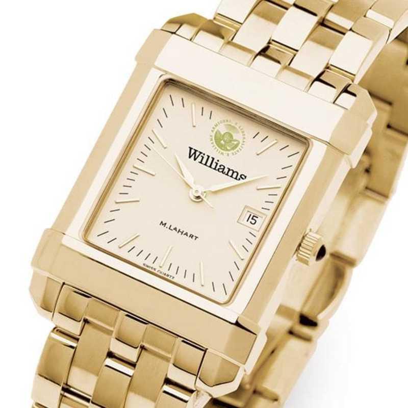 615789137566: Williams College Men's Gold Quad W/ Bracelet