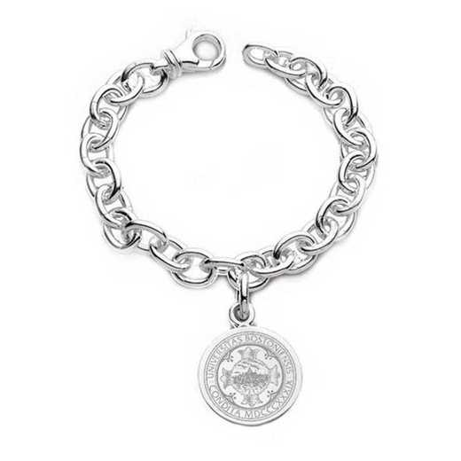 615789834014: Boston University Sterling Silver Charm Bracelet