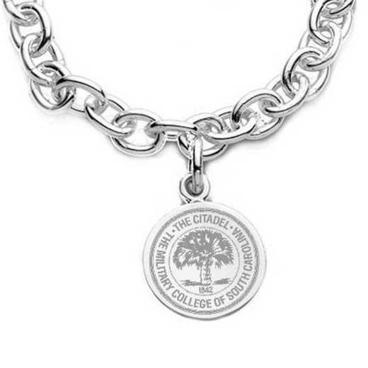 615789647317: Citadel Sterling Silver Charm Bracelet