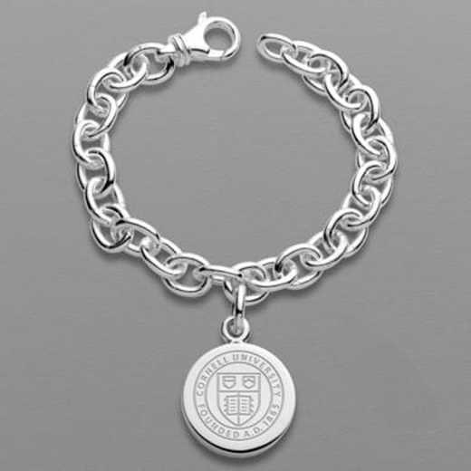 615789911043: Cornell Sterling Silver Charm Bracelet