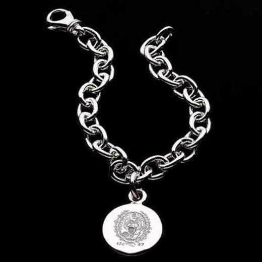 615789201779: Georgetown Sterling Silver Charm Bracelet