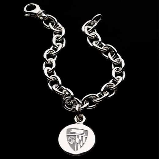 615789909682: Johns Hopkins Sterling Silver Charm Bracelet