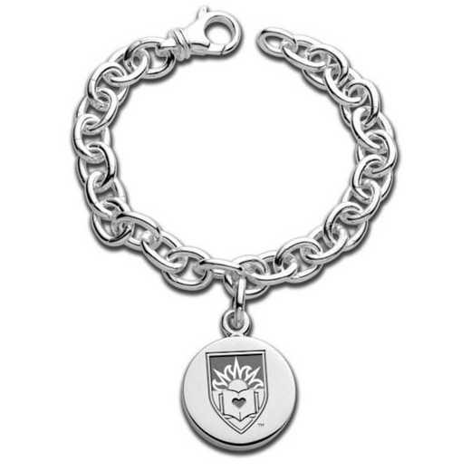 615789910954: Lehigh Sterling Silver Charm Bracelet