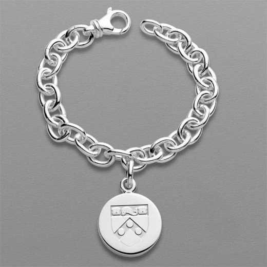 615789910411: Penn Sterling Silver Charm Bracelet