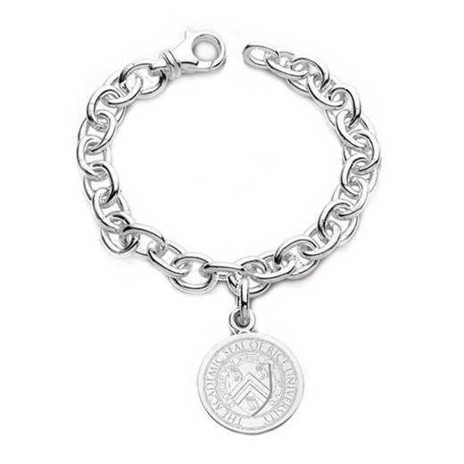 615789750154: Rice University Sterling Silver Charm Bracelet