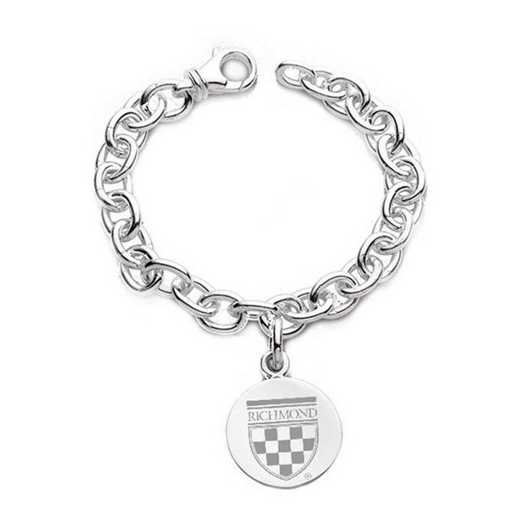 615789860082: University of Richmond Sterling Silver Charm Bracelet