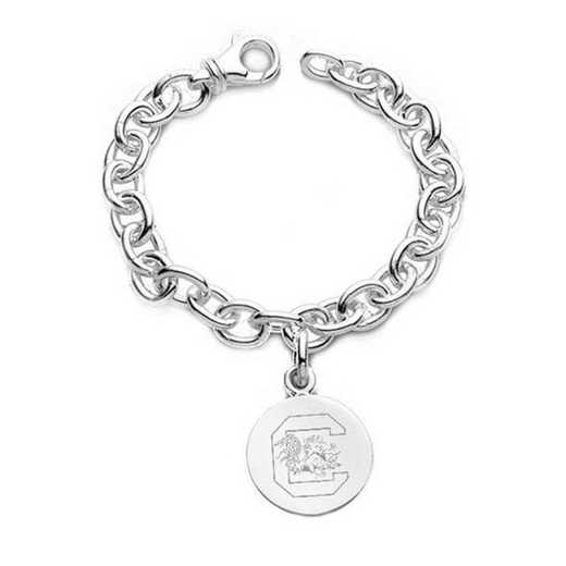 615789629511: South Carolina Sterling Silver Charm Bracelet