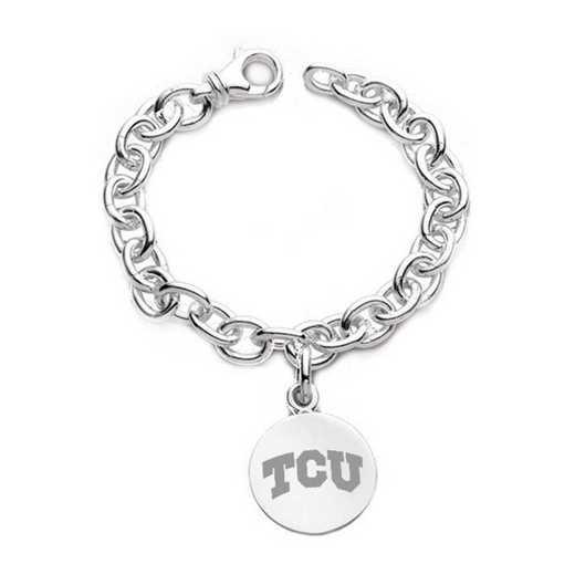 615789910770: TCU Sterling Silver Charm Bracelet