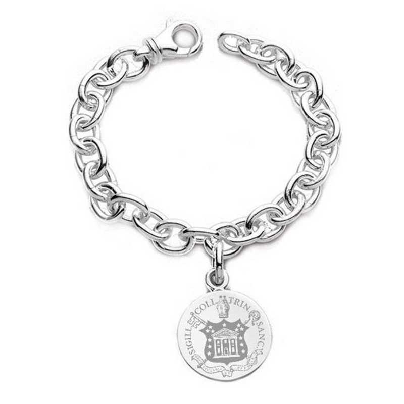 615789850748: Trinity College Sterling Silver Charm Bracelet
