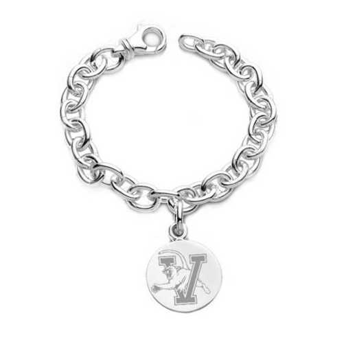 615789761075: UVM Sterling Silver Charm Bracelet & Charm