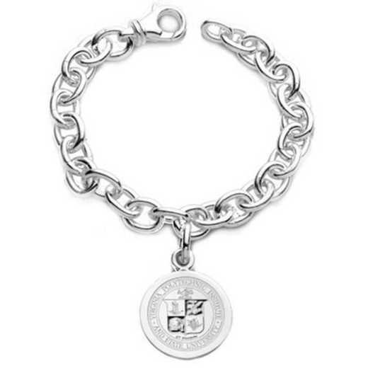 615789316428: Virginia Tech Sterling Silver Charm Bracelet