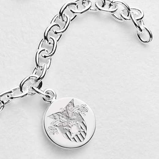 615789593607: West Point Sterling Silver Charm Bracelet