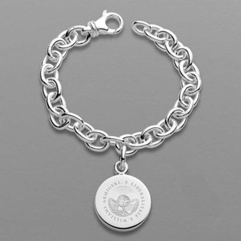 615789038511: Williams College Sterling Silver Charm Bracelet
