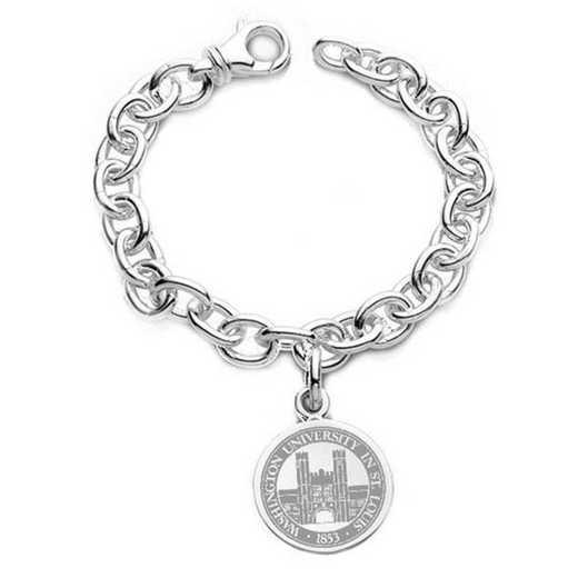 615789953937: WUSTL Sterling Silver Charm Bracelet