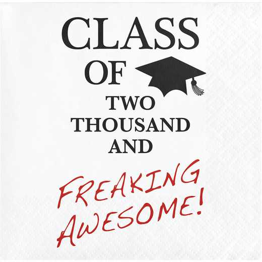 "DTC652224BNap: CC ""Awesome"" Graduation Beverage Napkins - 48 Count"