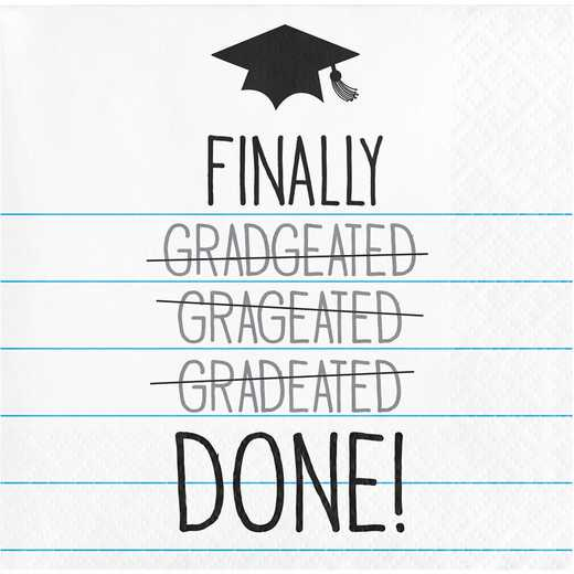 "DTC650024BNap: CC ""Finally Done"" Graduation Beverage Napkins - 48 Count"