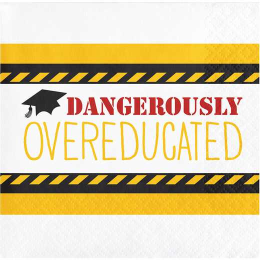 "DTC650224BNap: CC ""Overeducated"" Graduation Beverage Napkins - 48 Count"
