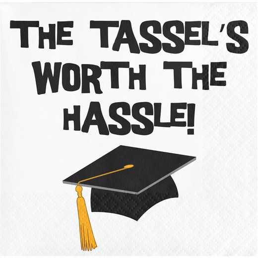 "DTC659124BNap: CC ""Tassel Hassle"" Graduation Beverage Napkins - 48 Count"