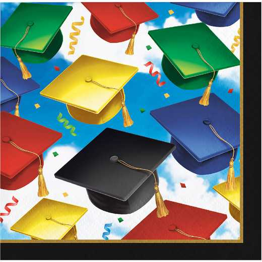 DTC327334BNAP: CC Graduation Celebration Beverage Napkins - 48 Count