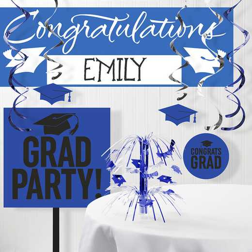 DTCCOBLT1B: CC Graduation School Spirit Blue Decorations Kit