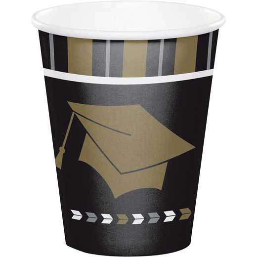 DTC327475CUP: CC Silver and Gold Glitz Graduation Cups - 24 Count
