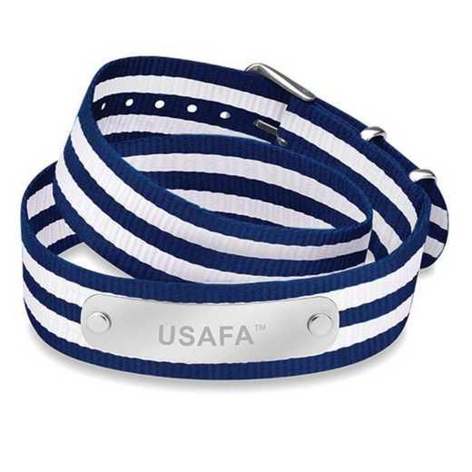 615789035923: Air Force Academy (Size-Medium) Double Wrap NATO ID Bracelet