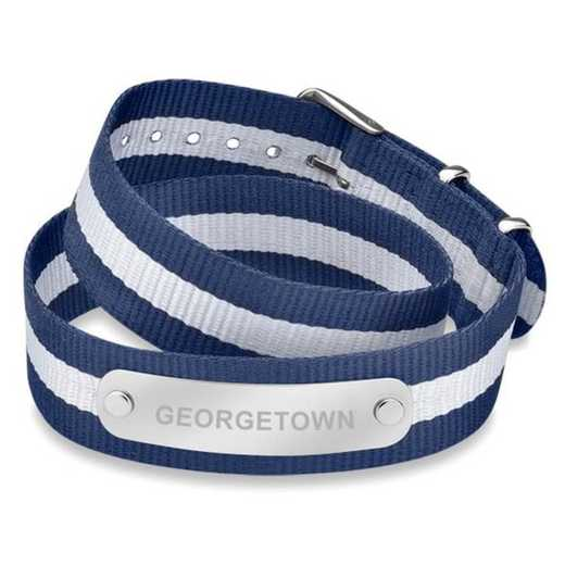 615789148937: Georgetown (Size-Large) Double Wrap NATO ID Bracelet