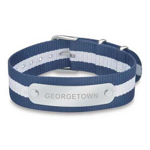 615789398646: Georgetown (Size-Large) NATO ID Bracelet