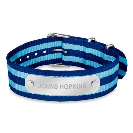 615789203957: Johns Hopkins (Size-Medium) NATO ID Bracelet