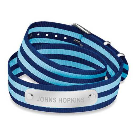 615789622246: Johns Hopkins (Size-Medium) Double Wrap NATO ID Bracelet