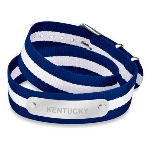 615789671534: Kentucky (Size-Medium) Double Wrap NATO ID Bracelet