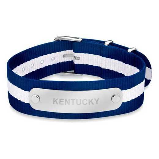 615789490807: Kentucky (Size-Large) NATO ID Bracelet