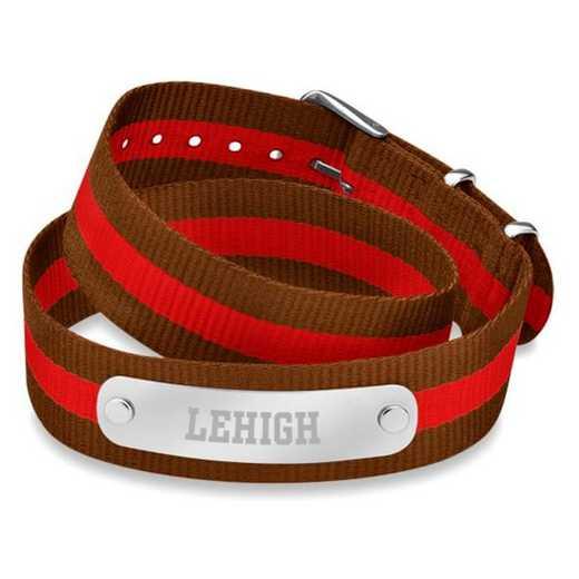 615789799238: Lehigh (Size-Medium) Double Wrap NATO ID Bracelet