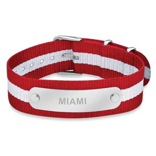 615789057628: Miami University (Size-Medium) NATO ID Bracelet