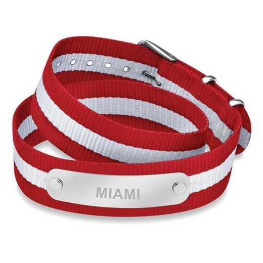 615789406600: Miami University (Size-Large) Double Wrap NATO ID Bracelet