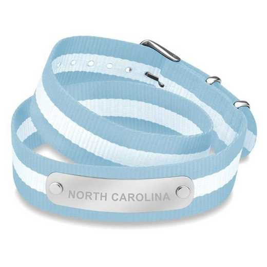 615789350415: North Carolina (Size-Medium) Double Wrap NATO ID Bracelet
