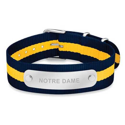 615789617099: Notre Dame (Size-Medium) NATO ID Bracelet